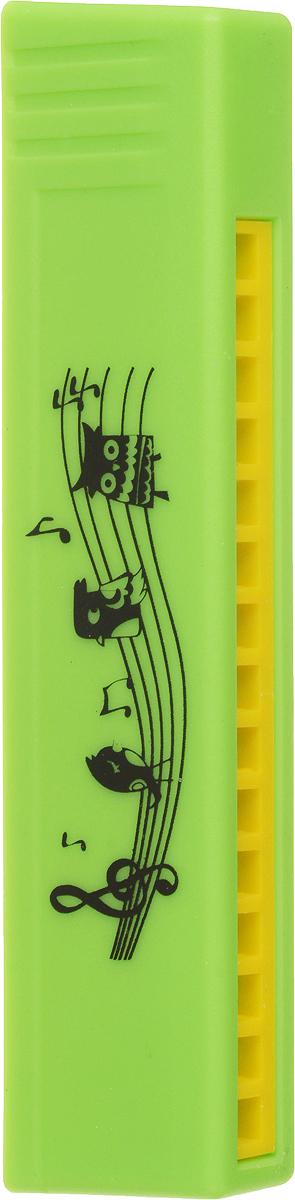 Пластмастер Музыкальная игрушка Гармошка цвет салатовый