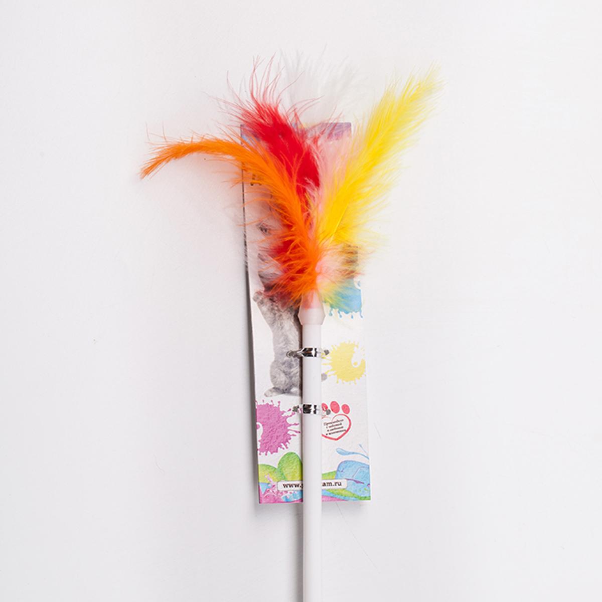 Дразнилка-удочка для кошки Грызлик Ам Пушистый хвост, длина палочки 55 см41.GR.002Дразнилка-удочка Пушистый хвост, длина палочки 55 см. Пластик