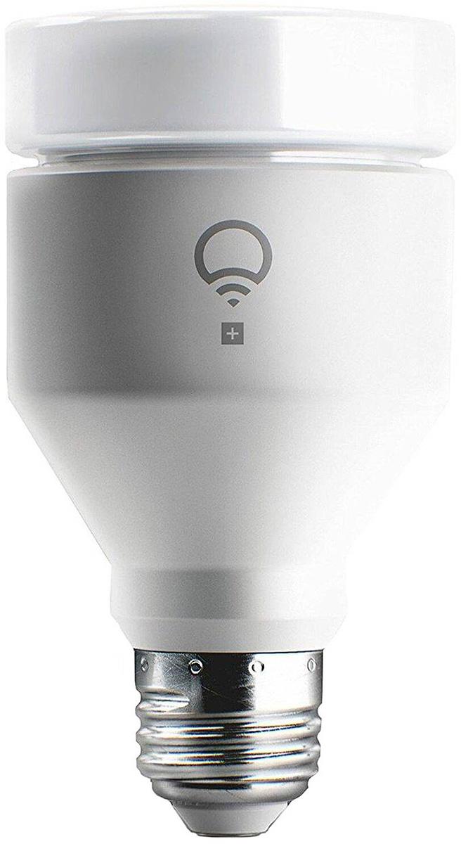 LIFX+ Smart Light Bulb умная светодиодная лампаLHA19E27UC10PУмная светодиодная лампа LIFX+ Smart Light Bulb. Цоколь E27.LIFX+ - это умнаясветодиодная лампа, которая использует Wi-Fi для настройки и управления освещением черезпростое приложение. Насладитесь доступом к невероятным цветам и мягким оттенкам белогосвета. Также невидимый инфракрасный свет позволит использовать камеры безопасности втемноте. LIFX устанавливается как любая традиционная лампа. Просто загрузитеприложение, подключитесь к Wi-Fi, и вы готовы к работе. Полностью контролируйте освещение.Бесплатное приложение LIFX доступно на Android и iOS. Получите максимум от LIFXподключившись к остальной части своего умного дома. LiFX работает с другими Smart- продуктами, включая Amazon Echo, Nest Thermostat и Protect, Logitech Pop и многими другими.Интуитивное управление позволит индивидуально настроить освещение, выбирать красивыетемы, создавать пользовательские группы для управления несколькими лампами одновременно. ОсобенностиРежим ночного видения для камерПростота настройки, отсутствиедополнительного оборудованияНевероятный цвет, миллионы возможностейТеплый ихолодный диапазонРаботает до 22,8 летОдно приложение для Android, iOS и Windows 10
