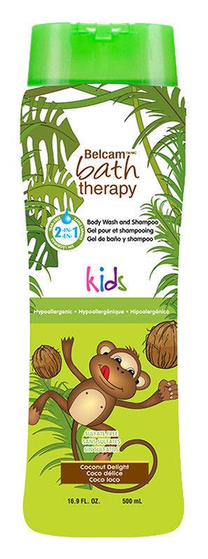 Bath Therapy Детский гель для душа и шампунь для волос Кокосовое удовольствие 2 в 1 500 мл