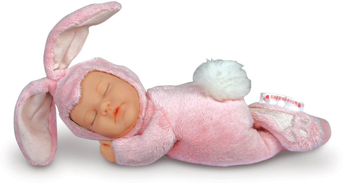 Ovation Anne Geddes Кукла Детки-кролики цвет розовый