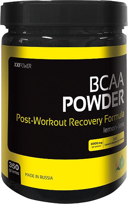 Аминокислоты Россия XXI POWER BCAA Powder, лимон и лайм, 350 г xxi power энергетический напиток xxi power гуарана 500мл