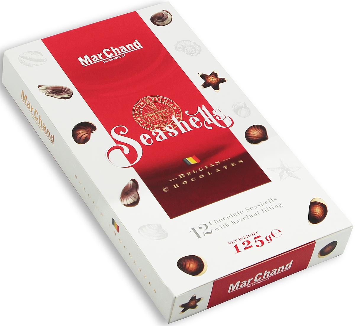 MarChand ракушки шоколадные конфеты, 125 г фрисолак голд пеп смесь на основе глубоко гидролизованных белков молочной сыворотки 400 г