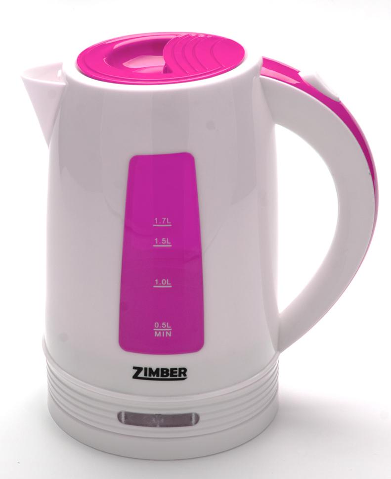 Zimber ZM-10847 электрический чайник10847Быстро вскипятить воду и поддерживать ее горячей в течение долгого времени Вам поможет чайник Zimber. На рынке бытовой техники этот прибор пользуется неизменной популярностью благодаря высокому качеству, безопасности и удобству в использовании. Корпус чайника выполнен из качественного термостойкого полипропилена. Чайник оснащен скрытым нагревательным элементом нержавеющей стали, что очень удобно, так как он более долговечен, чем спираль, и не подвержен образованию накипи. Чайник сохранит температуру воды на долгое время, что позволяет снизить расход электричества. Благодаря прозрачной шкале-индикатору можно следить за уровнем воды в чайнике. Для безопасного использования в чайниках Zimber предусмотрены функции автоматического отключения при отсутствии воды или открытии крышки, а также встроенная защита от перегрева. Яркий цвет изделия несомненно порадует Вас и внесет новые краски в интерьер Вашей кухни!