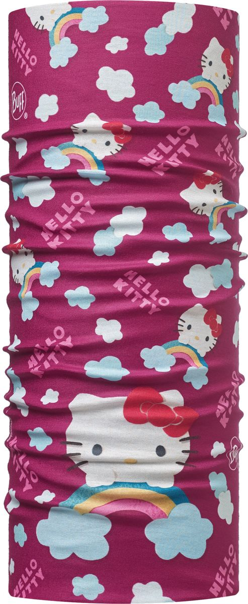 Купить Бандана Buff Hello Kitty Child Original Buff Rainbow Purple, цвет: вишневый. 113202.605.10.00. Размер универсальный