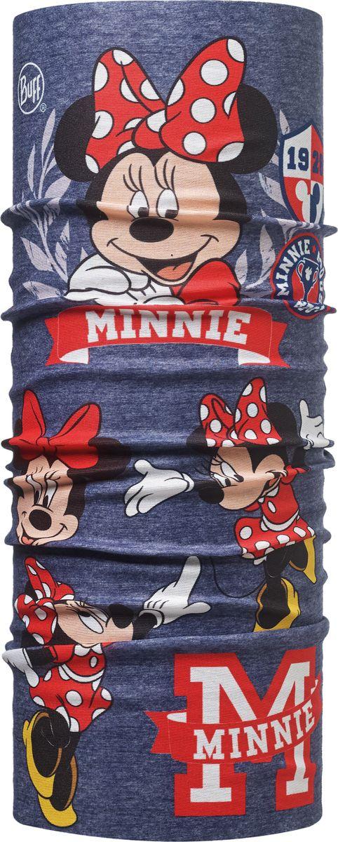 Купить Бандана детская Buff Minnie Child Original Buff High School Denim, цвет: темно-синий, красный. 113270.788.10.00. Размер универсальный