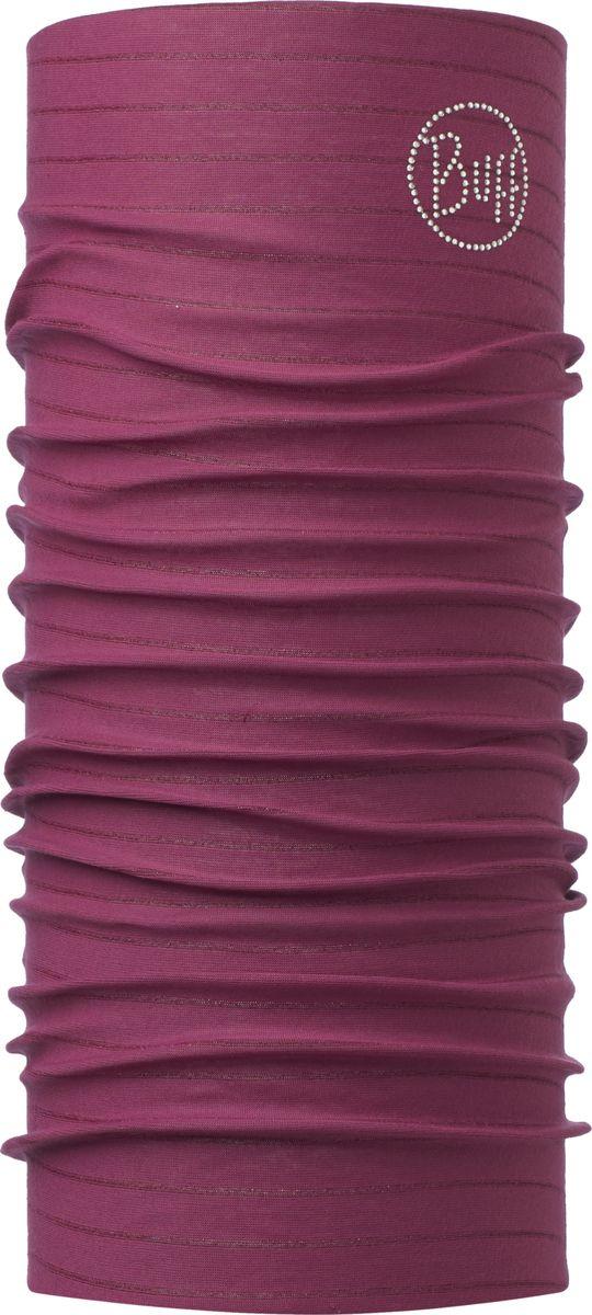 Бандана Buff Original Amaranth Purple Chic Stripes, цвет: бордовый. 115141.629.10.00. Размер универсальный115141.629.10.00Бандана Buff Original - это оригинальный, мультифункциональный, бесшовный головной убор - удобный и комфортный для любого вида активного отдыха и спорта. Оригинальный, потому что Buff был и является первым в мире брендом мультифункциональных, бесшовных и универсальных головных уборов. Мультифункциональный, потому что их можно носить самыми разными способами: как шарф, как шапку, как балаклаву, косынку, бандану, маску, напульсник и многими другими - решает Ваша фантазия! Универсальный головной убор, который можно носить более чем двенадцатью способами, который можно использовать при занятии любым видом спорта, езде на велосипеде и мотоцикле, катаясь или бегая на лыжах, и даже как аксессуар в городской одежде. Бесшовный, благодаря эластичности, позволяющей использовать эти головные уборы как угодно и не беспокоиться о том, что кожа может быть натерта или раздражена швами. Размер (обхват головы): 53-62 см.