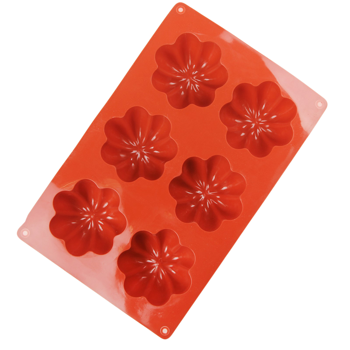 Форма для выпечки Доляна Пудинг, силиконовая, цвет: коричневый, 30 х 17,5 х 3,7 см, 6 ячеек форма для выпечки nadoba mila силиконовая 6 ячеек 29 х 17 х 3 7 см 762017