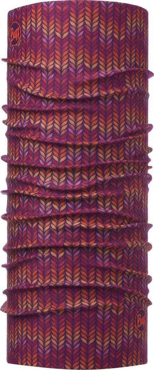 Бандана детская Buff Original Junior Spike Deep Grape, цвет: бордовый. 115474.604.10.00. Размер универсальный115474.604.10.00Бандана Buff Original - это оригинальный, мультифункциональный, бесшовный головной убор - удобный и комфортный для любого вида активного отдыха и спорта. Оригинальный, потому что Buff был и является первым в мире брендом мультифункциональных, бесшовных и универсальных головных уборов. Мультифункциональный, потому что их можно носить самыми разными способами: как шарф, как шапку, как балаклаву, косынку, бандану, маску, напульсник и многими другими - решает Ваша фантазия! Универсальный головной убор, который можно носить более чем двенадцатью способами, который можно использовать при занятии любым видом спорта, езде на велосипеде и мотоцикле, катаясь или бегая на лыжах, и даже как аксессуар в городской одежде. Бесшовный, благодаря эластичности, позволяющей использовать эти головные уборы как угодно и не беспокоиться о том, что кожа может быть натерта или раздражена швами. Размер (обхват головы): 50-55 см.