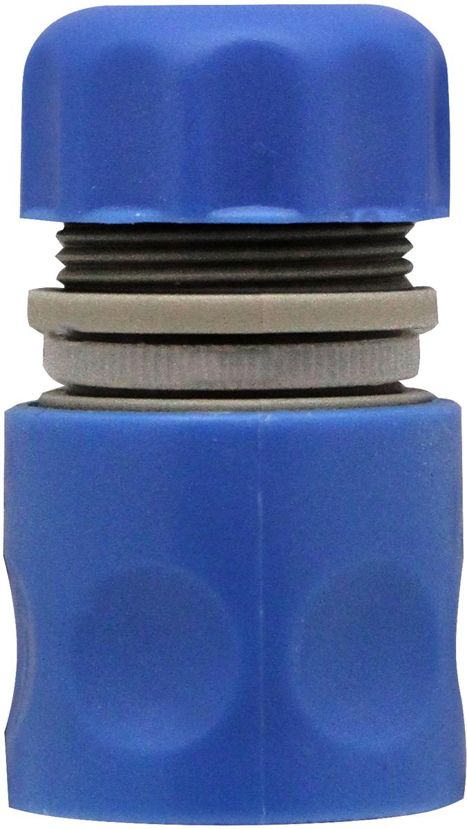 Коннектор для шлангов, оснащенный системой аквастоп, предназначен для  простого и прочного соединения пистолетов - распылителей и  разбрызгивателей со шлангами диаметром 1/2