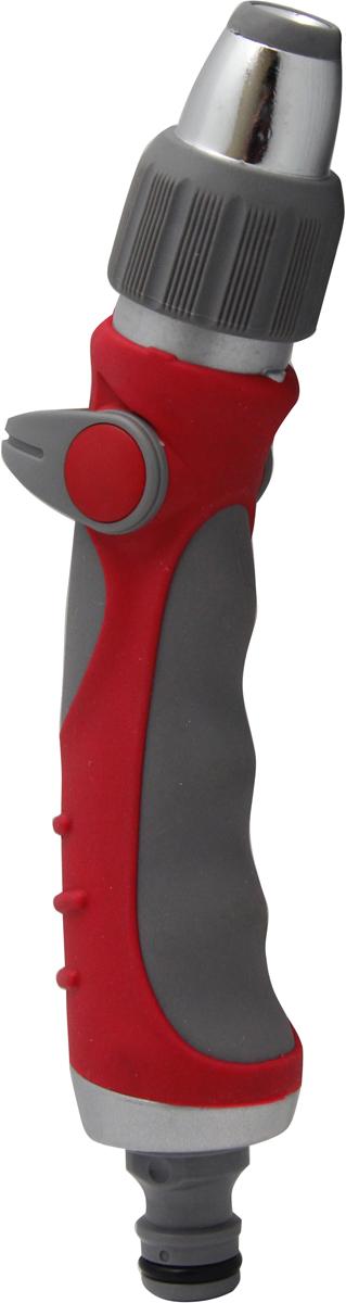 """Пистолет-распылитель """"Frut club"""" предназначен для направленного полива растений.  Обеспечивает 11 режимов полива. Оснащен удобной эргономичной рукояткой с фиксатором для обеспечения  непрерывного длительного полива. Материал: пластик, металлическое сопло."""