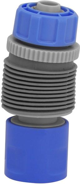Коннектор для угловых соединений Frut, поворотный, 1/2403081Коннектор для угловых соединений 1/2 (12,7 мм) с поворотным шарнирныммеханизмом предназначен для соединения двух шлангов на углах, соединенияшланга с адаптером при подключении к крану и соединения шланга спистолетом - распылителем для полива растений в труднодоступных местах,например, в подвесных кашпо. Коннектор позволяет избежать заломов иперегибов шланга, а также обеспечивает дополнительный комфорт приработе. Коннектор выполнен из ударопрочного ABS пластика и качественногоРР пластика. Шарнирный механизм защищен от возможных загрязнений иповреждений мягким резиновым покрытием.