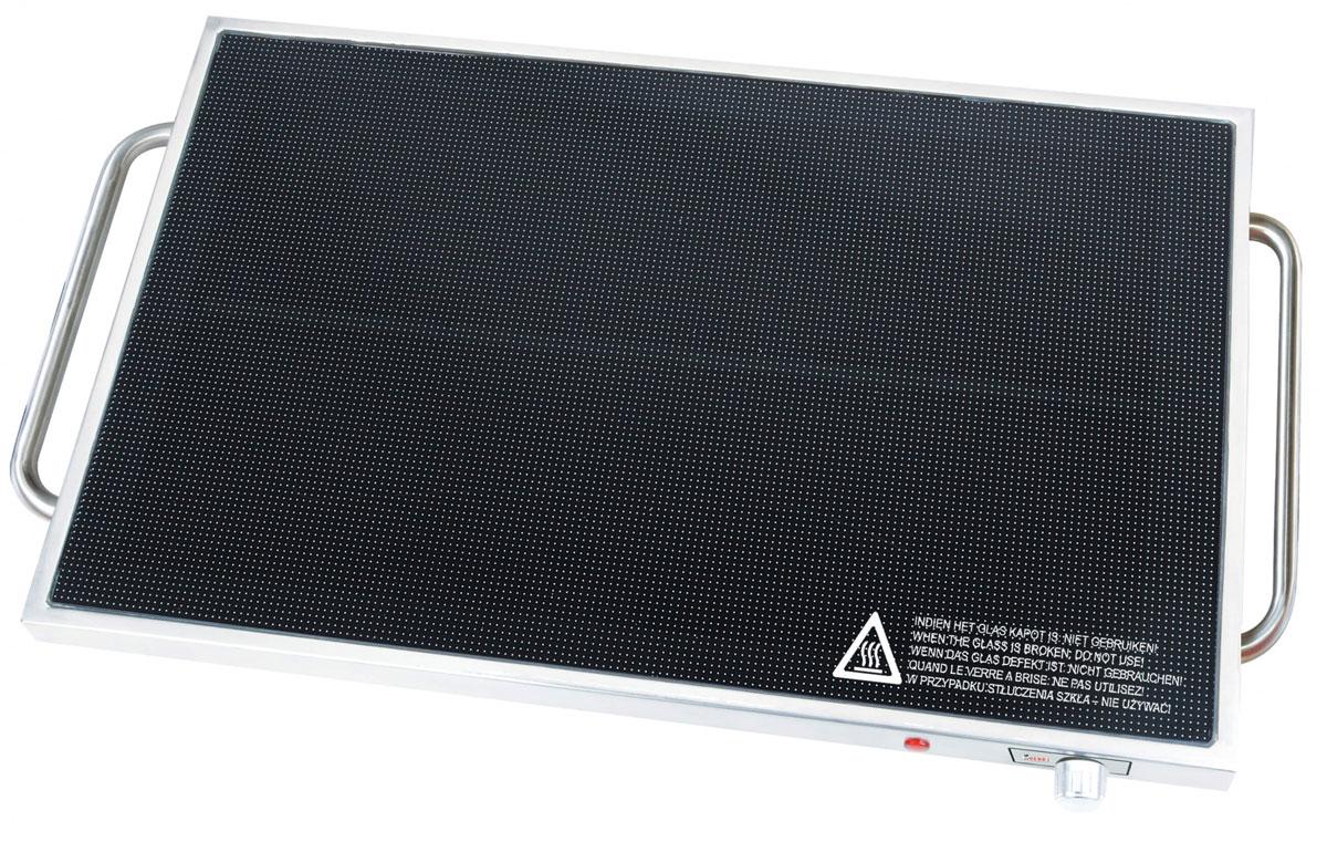Gemlux GL-WP250 плита настольнаяGL-WP250Подогреваемая поверхность, электрическая, настольная, стеклокерамическая, гастронормированная (вместимость 1 GN 1/1), рабочая температура 60-105оС, материал корпуса - нерж.сталь