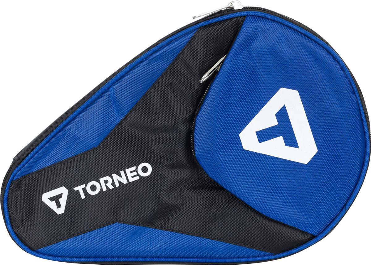 """Чехол для ракетки для настольного тенниса """"Torneo"""", с карманом для мячей, цвет: синий, черный"""