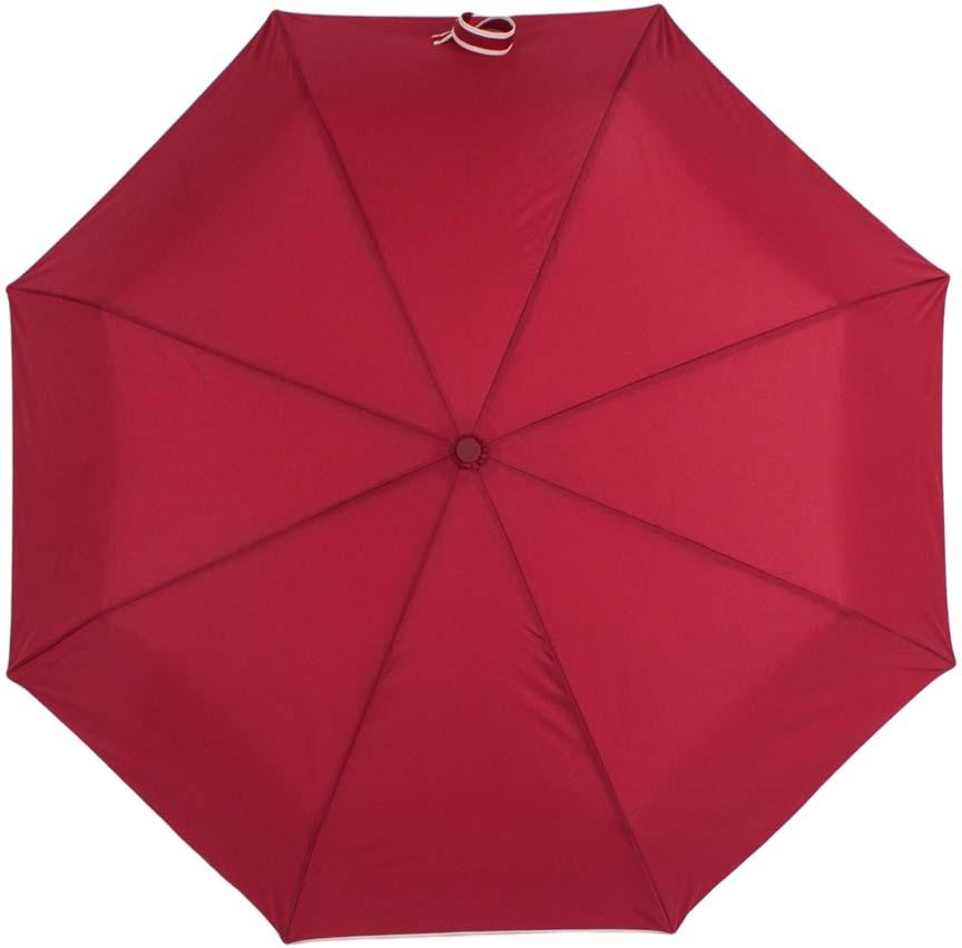 Зонт женский Zemsa, автомат, 3 сложения, цвет: бордовый. 24-004 ZM