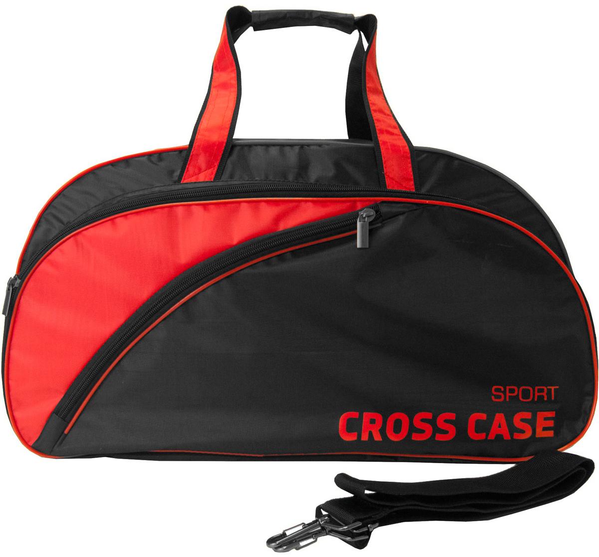 Сумка мужская Cross Case, цвет: черный, красный. CCS-1039-01CCS-1039-01Спортивная сумка Cross Case имеет одно внутреннее отделение, наружный объемный карман на молнии 52 х 23 х 3 см, наружный фигурный карман на молнии 45 х 21 см. Регулируемый съемный наплечный ремень, высота ручек для переноски 17 см.