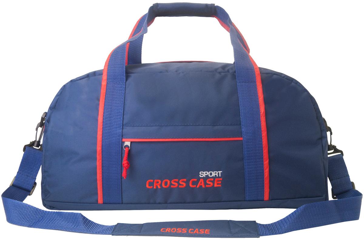Сумка мужская Cross Case, цвет: синий, красный. CCS-1040-04CCS-1040-04Спортивная сумка Cross Case имеет одно внутреннее отделение, наружный карман 22 х 20 см с молнией посередине кармана. Регулируемый съемный наплечный ремень, высота ручек для переноски 17 см.