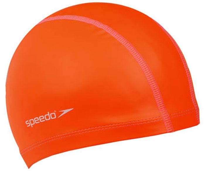 Шапочка для плавания Speedo, цвет: оранжевый