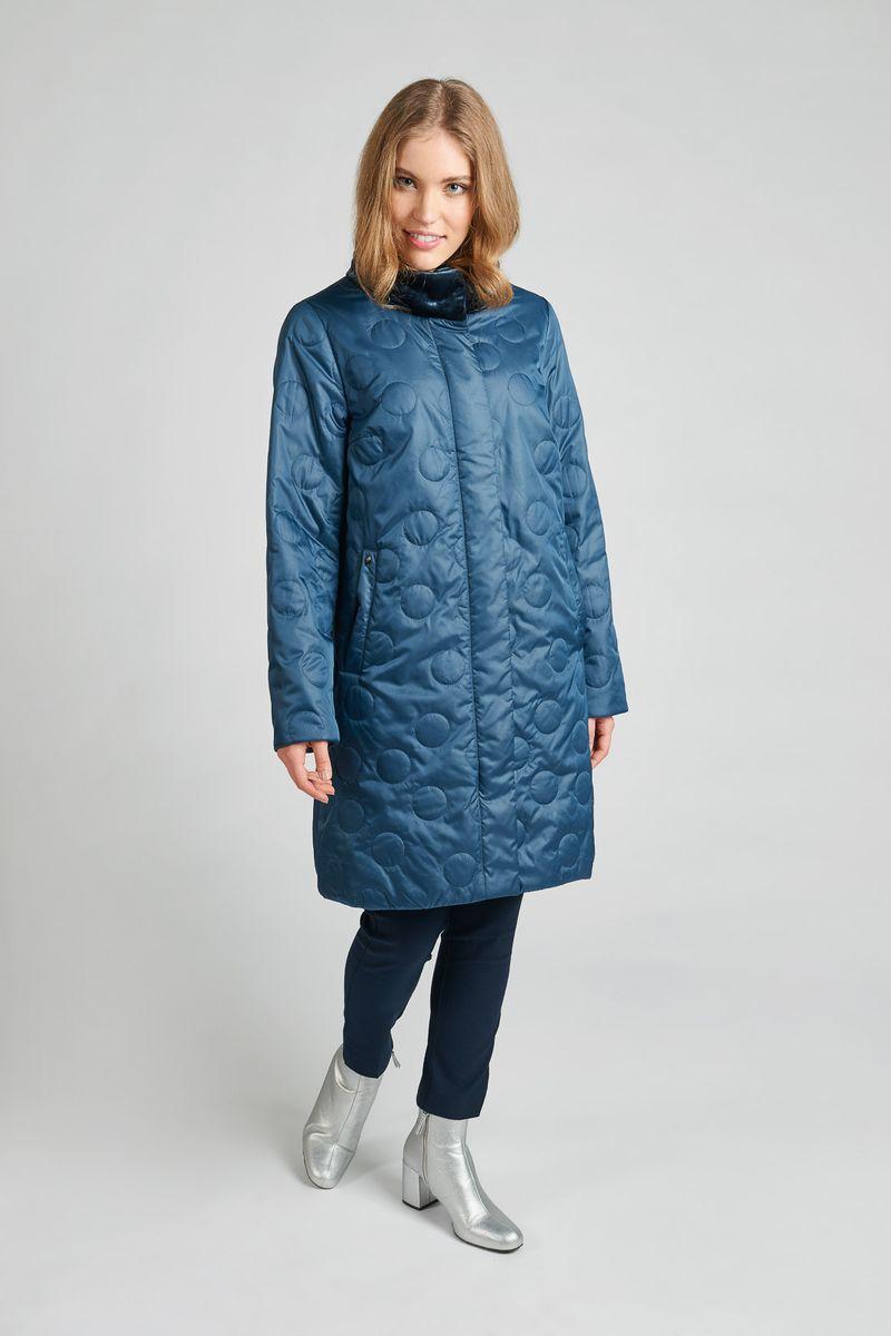 Куртка женская Elfina, цвет: бирюзовый. 81810_B51/22. Размер 4881810_B51/22Куртка женская Elfina выполнена из полиэстера. Модель с длинными рукавами и воротником стойкой.