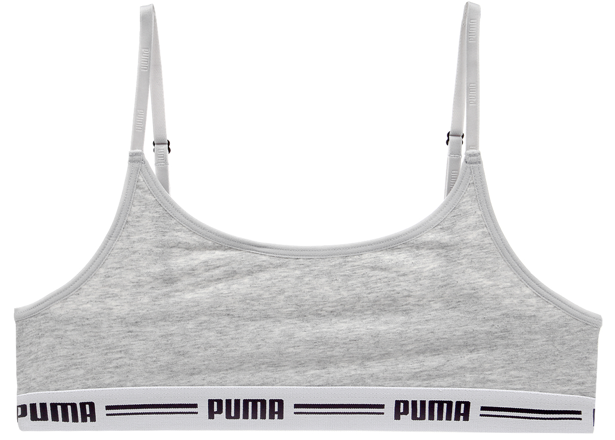 Топ-бра Puma Iconic Casual, цвет: серый. 90707201. Размер XL (48/50) топы бра urban yoga топ бра garuada mario