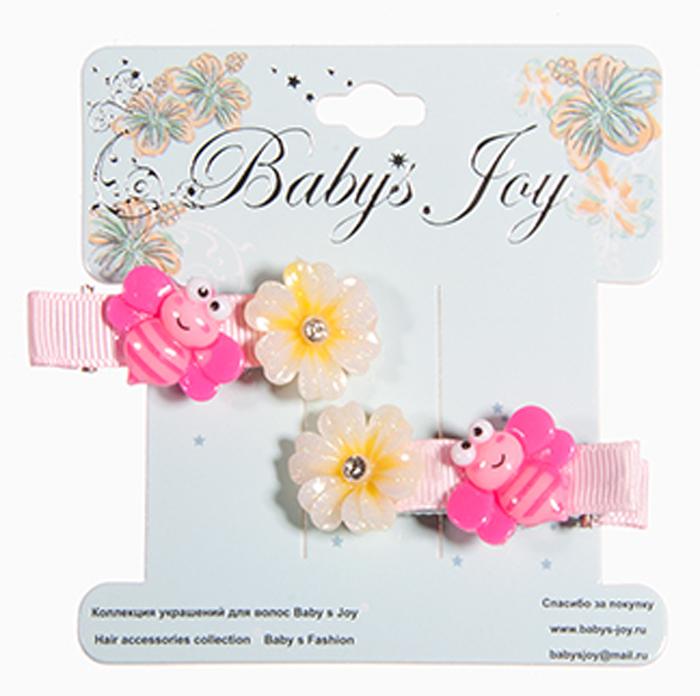 Набор зажимов для волос Baby's Joy, цвет: розовый, желтый. AL 966 крабы bizon заколка зажим шляпа