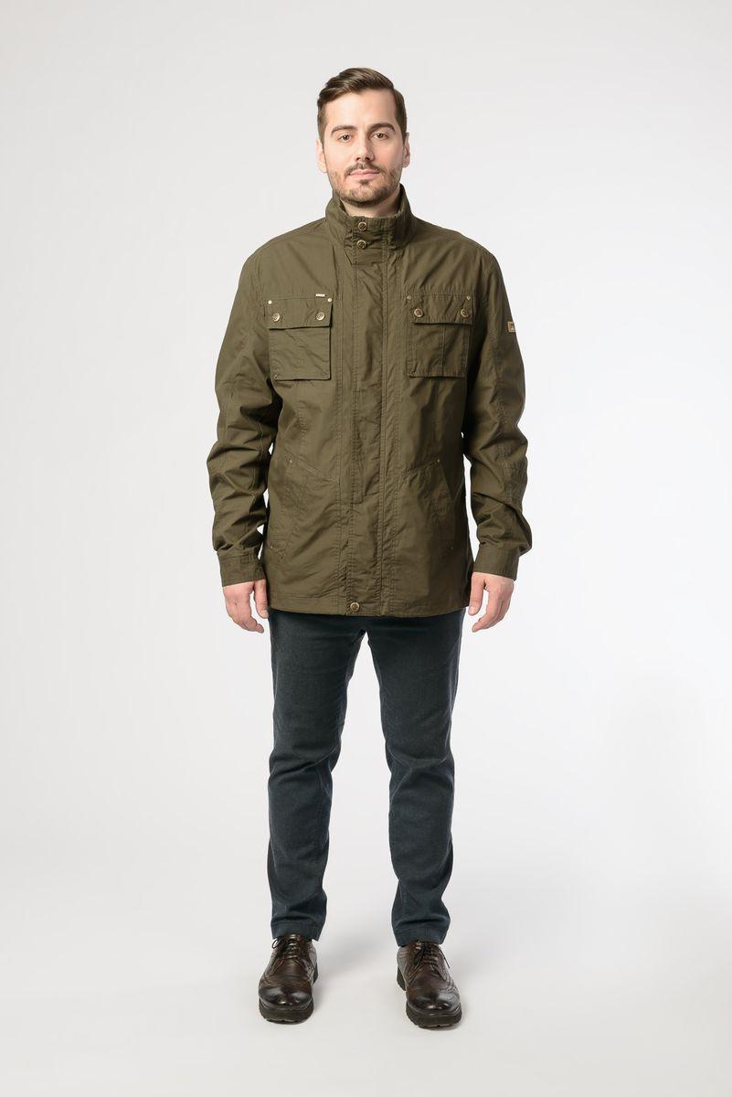 Куртка мужская Vizani, цвет: зеленый. V-18033_75. Размер 56 куртки vizani куртка