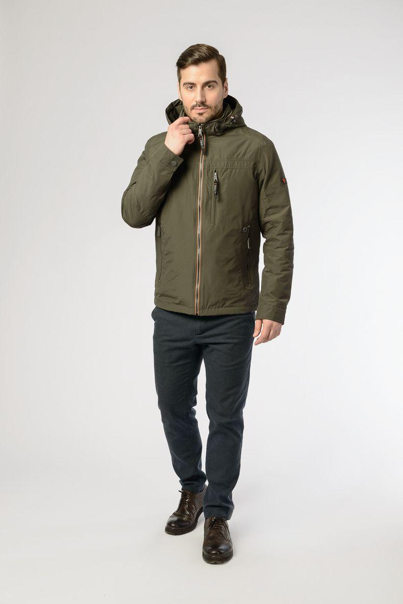 Куртка мужская Vizani, цвет: зеленый. VTC18-1278_21/KHAKI. Размер 58 куртка мужская vizani цвет синий vtc18 1284 2 navy размер 54