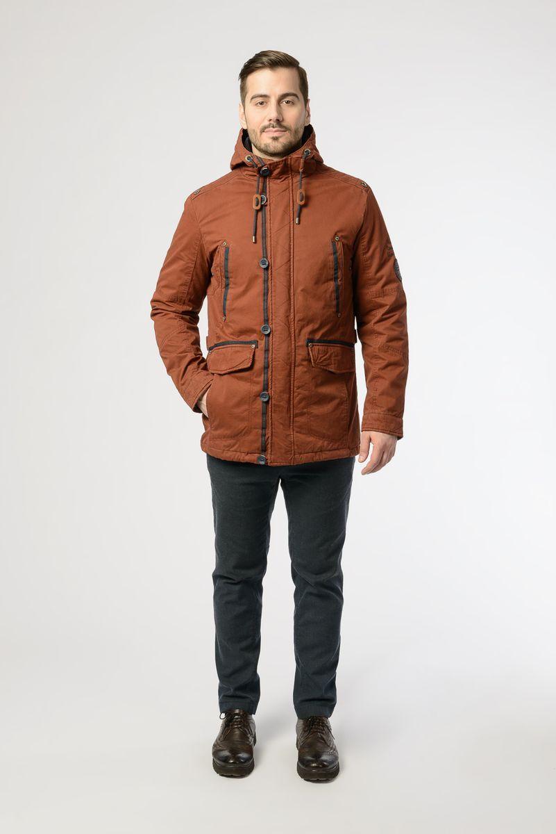 Куртка мужская Vizani, цвет: кирпичный. VTC18-863_15/BRICK RED. Размер 58 куртка мужская vizani цвет синий vtc18 1284 2 navy размер 54