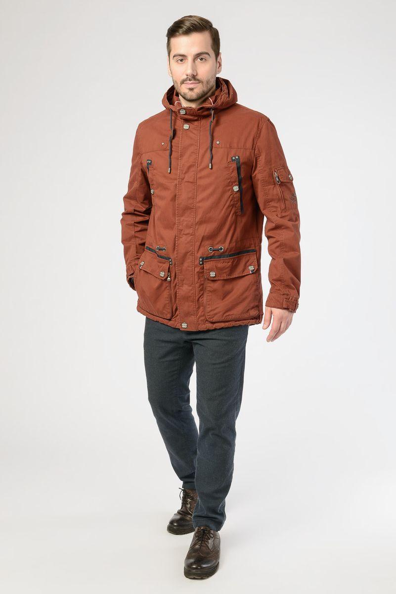 Куртка мужская Vizani, цвет: кирпичный. VW18-616_15/BRICK RED. Размер 58 куртка мужская vizani цвет бежевый vtc18 863 36 d beige размер 58