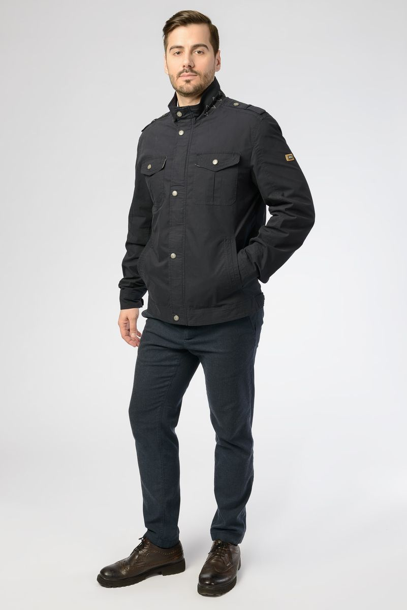 Куртка мужская Vizani, цвет: темно-синий. GF-003_779. Размер 56 куртка мужская vizani цвет темно синий 10529 99 размер 58
