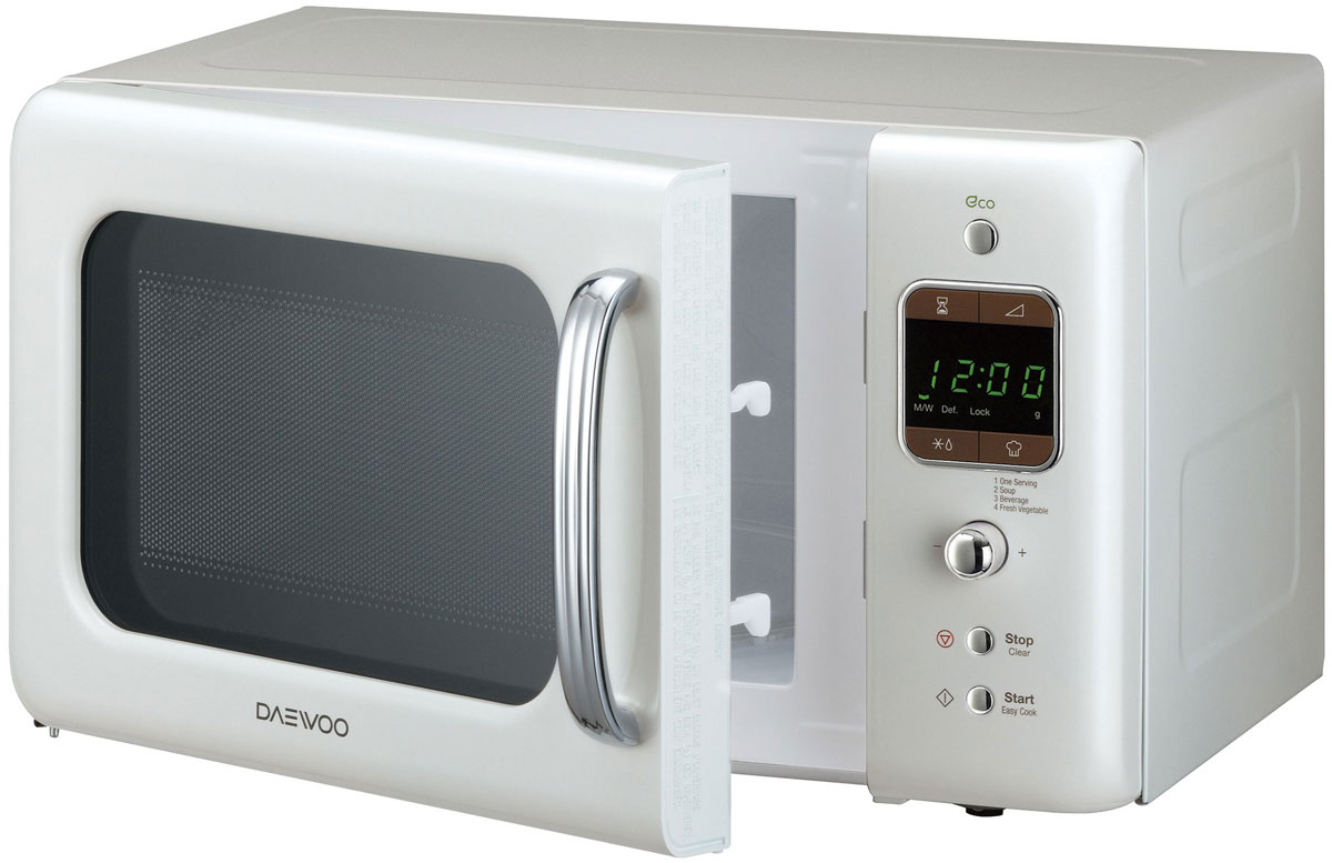 Daewoo KOR-6LBR, White микроволновая печь - Микроволновые печи