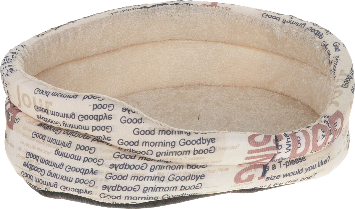 Лежак для собак GLG Малютка. Good Morning, цвет: бежевый, 37 х 30 х 11 см
