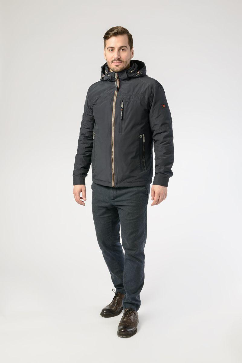 Куртка мужская Vizani, цвет: темно-синий. VTC18-1278_2/NAVY. Размер 58 куртка мужская vizani цвет синий vtc18 1284 2 navy размер 54