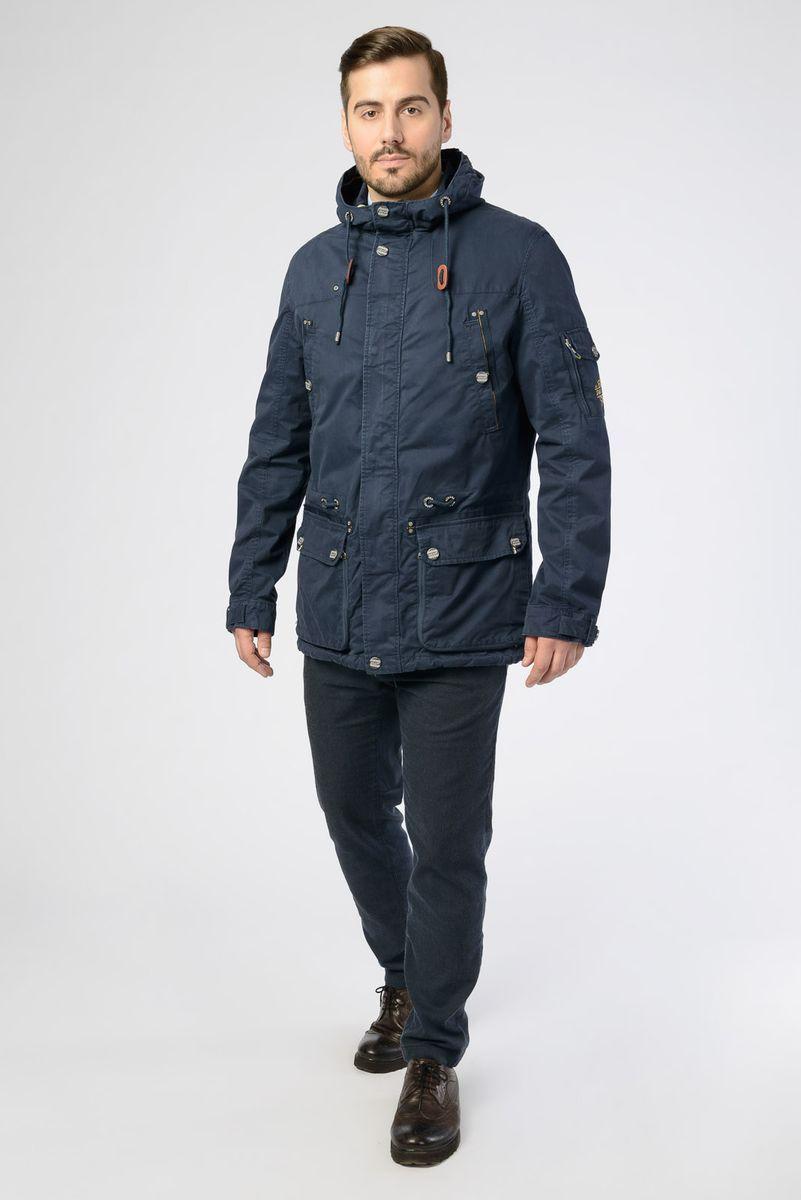 Куртка мужская Vizani, цвет: темно-синий. VW18-616_2/NAVY. Размер 58 куртка мужская vizani цвет синий vtc18 1284 2 navy размер 54