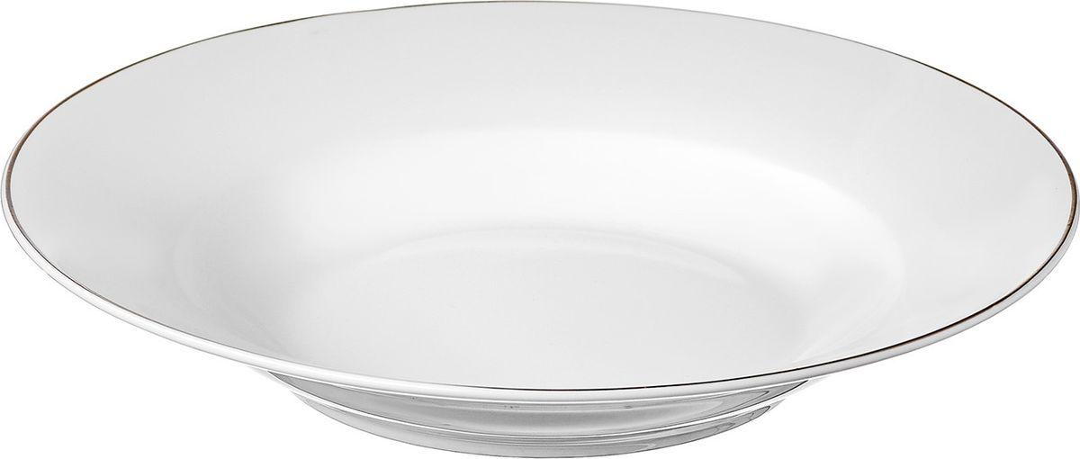 Тарелка Alpino изготовлена из высококачественного материала с содержанием костной муки до 42%. Это придает предметам легкость, прозрачность и белизну.  Благодаря простым удобным формам и минималистическому дизайну, коллекцию можно считать универсальной. Идеально подходит для сервировки праздничного стола и ежедневной трапезы.  Неоспоримым преимуществом является возможность использования предметов из коллекций Alpino в микроволновой печи.