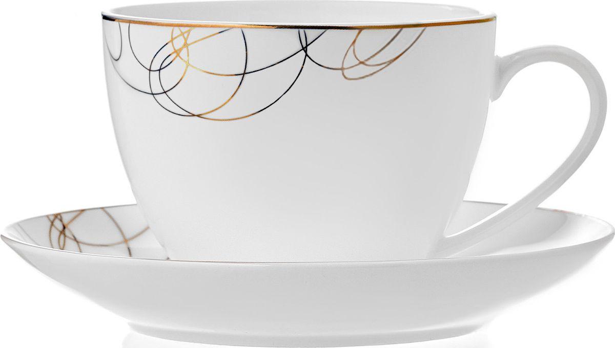 Чайная пара, 210 мл/145мм Leontina изготовлена из высококачественного материала с содержанием костной муки до 42%. Это придает предметам легкость, прозрачность и белизну.  Благодаря простым удобным формам и минималистическому дизайну, коллекцию можно считать универсальной. Идеально подходит для сервировки праздничного стола и ежедневной трапезы.  Неоспоримым преимуществом является возможность использования предметов из коллекций Leontina в микроволновой печи.