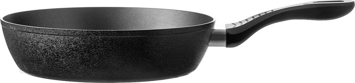 Сковорода глубокая из кованого алюминия станет незаменимым помощником на вашей кухне на долгие годы.  Размер: 26 см * 6,8 см. Толщина дна: 3,8 мм. Внутреннее антипригарное покрытие Whitford QuanTanium 3 слоя, цвет – черный. Внешнее покрытие: фактурное термостойкое, цвет – черный. Приваренная бакелитовая ручка с покрытием софт тач, цвет – черный.  Окрашенный борт сковороды, цвет – черный. Упаковка: цветной картонный рукав, пузырчатая плёнка. Подходит для индукционных плит.