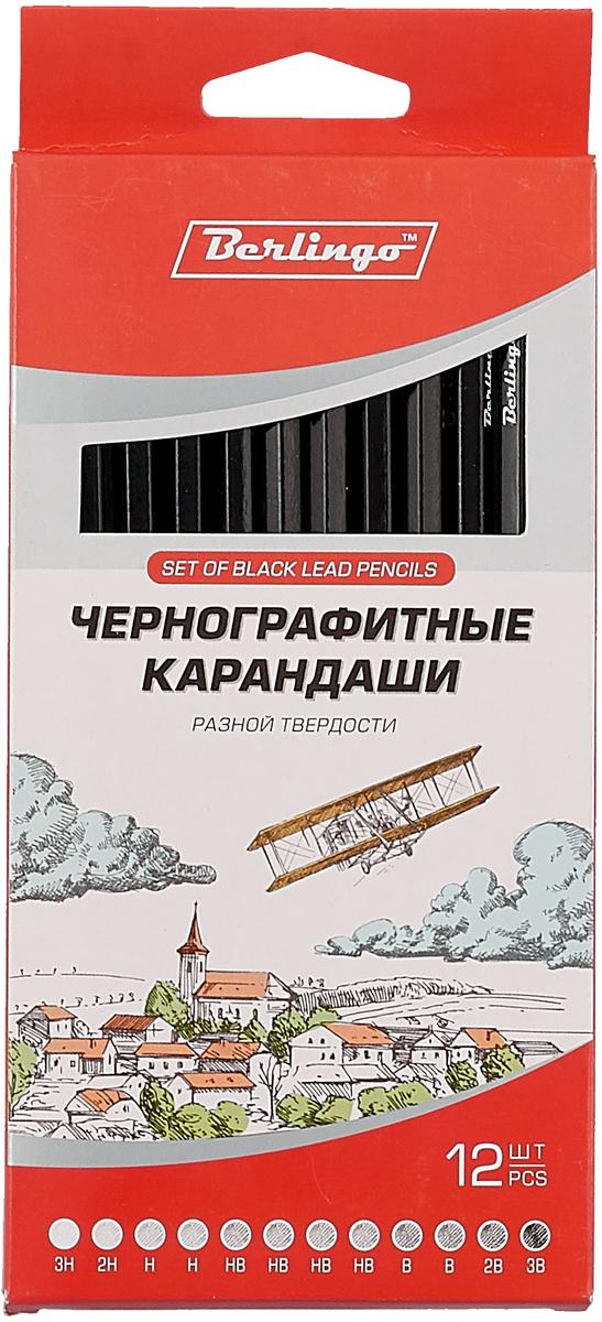 Berlingo Набор чернографитных карандашей 12 шт berlingo конверт c5 с подсказом 25 шт