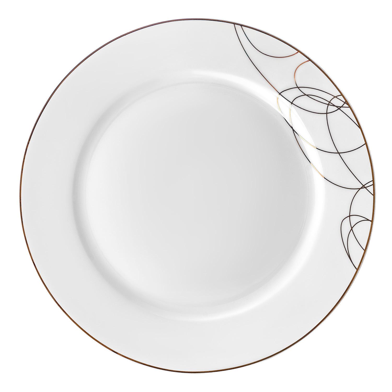 Тарелка обеденная,22,5 см Leontina изготовлена из высококачественного материала с содержанием костной муки до 42%. Это придает предметам легкость, прозрачность и белизну.  Благодаря простым удобным формам и минималистическому дизайну, коллекцию можно считать универсальной. Идеально подходит для сервировки праздничного стола и ежедневной трапезы.  Неоспоримым преимуществом является возможность использования предметов из коллекций Leontina в микроволновой печи.