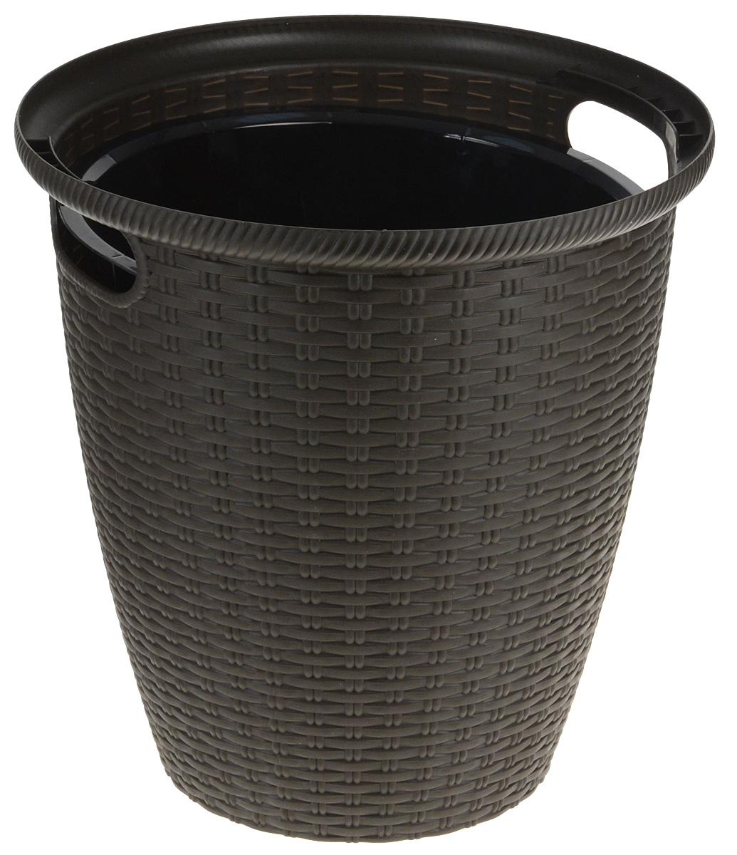Кашпо InGreen Ротанг, напольное, цвет: темно-коричневый, 20 л стул tetchair ccr r 466apu t ротанг темно коричневый