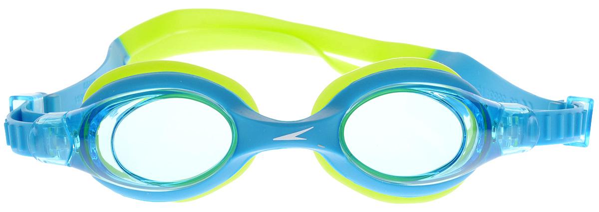 Очки для плавания детские Speedo, цвет: голубой, салатовый speedo очки для плавания детские speedo jet