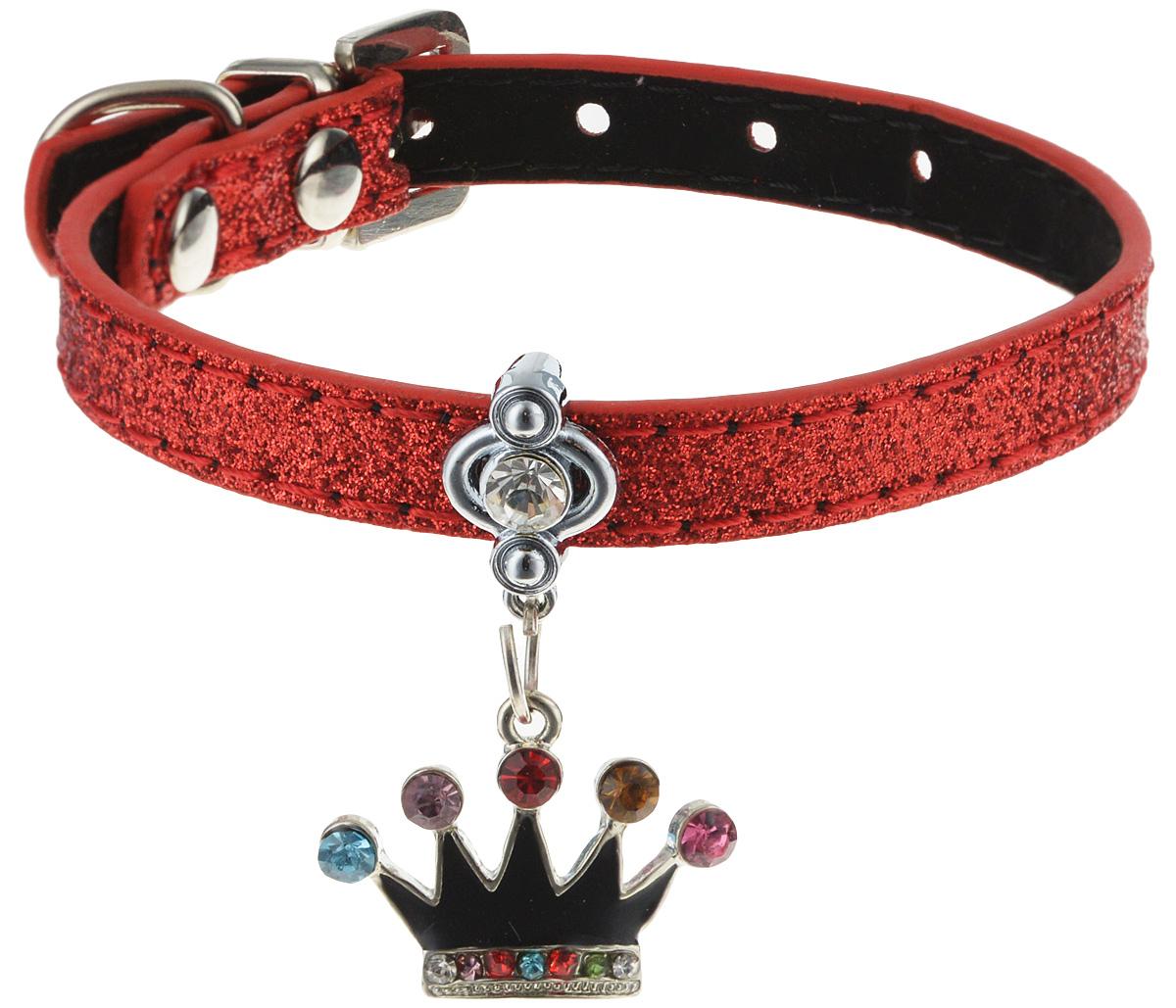 Ошейник для котов и собак GLG, с кулоном, цвет: красный, 25 см свеча зажигания ngk 2741
