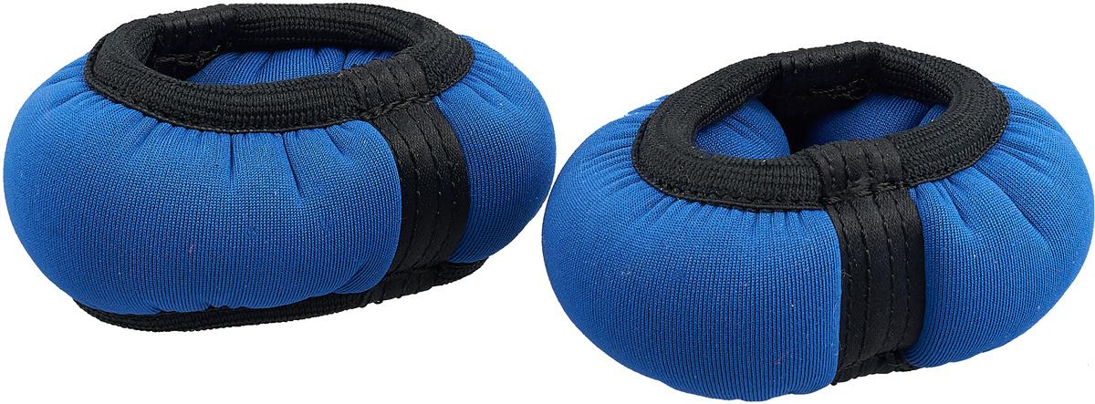 Утяжелитель-браслет для рук и ног Indigo, цвет: синий, 0,3 кг, 2 шт утяжелитель браслет для рук и ног indigo цвет красный 0 3 кг 2 шт