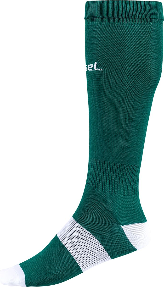 Гетры футбольные для мальчика Jogel, цвет: зеленый, белый. JA-001_УТ-00012516. Размер 35/37