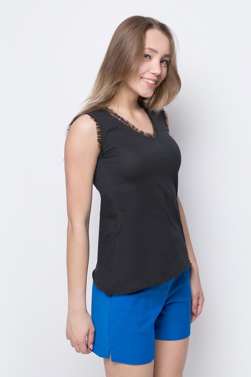 Блузка женская adL, цвет: черный. 11533451000_001. Размер XS (40/42) футболка женская adl цвет черный 17532987001 001 размер xs 40 42