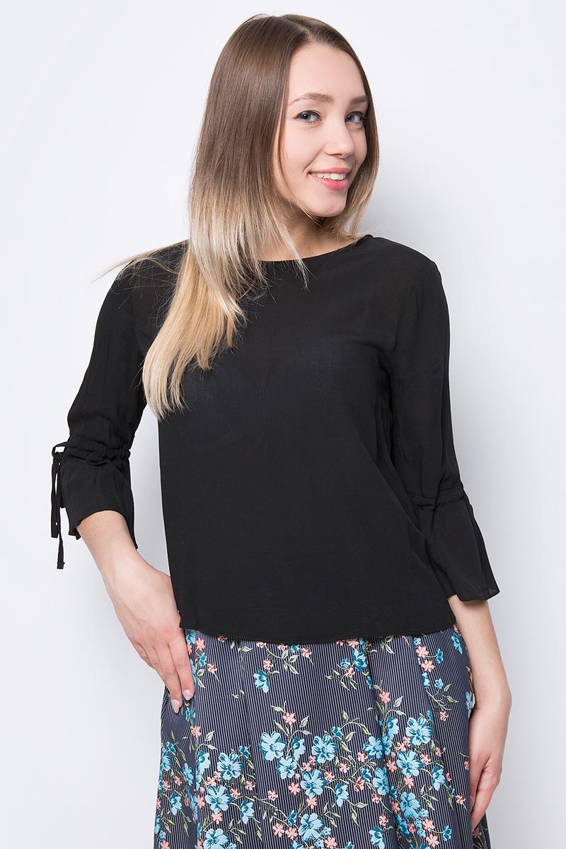 Блузка женская adL, цвет: черный. 11533456000_001. Размер XS (40/42) футболка женская diesel цвет черный 00svvp 0canr 900 размер xs 40