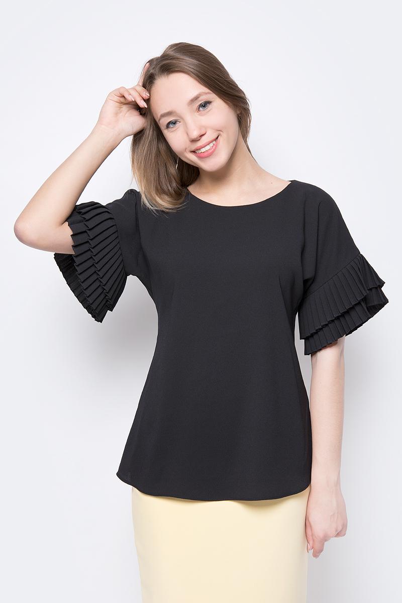 Блузка женская adL, цвет: черный. 11533427000_001. Размер XS (40/42) футболка женская adl цвет черный 17532987001 001 размер xs 40 42