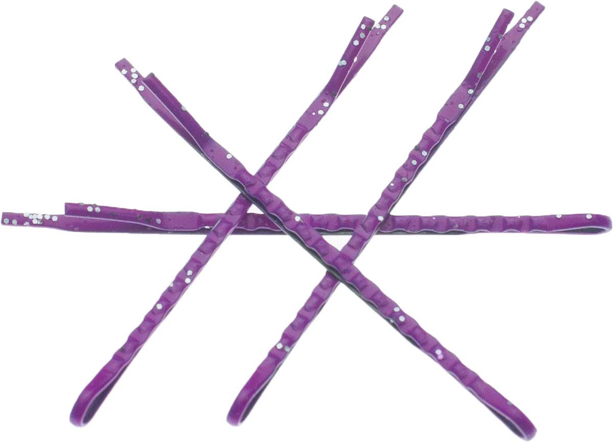 Зажим для волос Мастерская Крутовых, цвет: сиреневый, 4 шт. 1104111041Зажим для волос выполнен из металла. В комплекте 4 зажима.