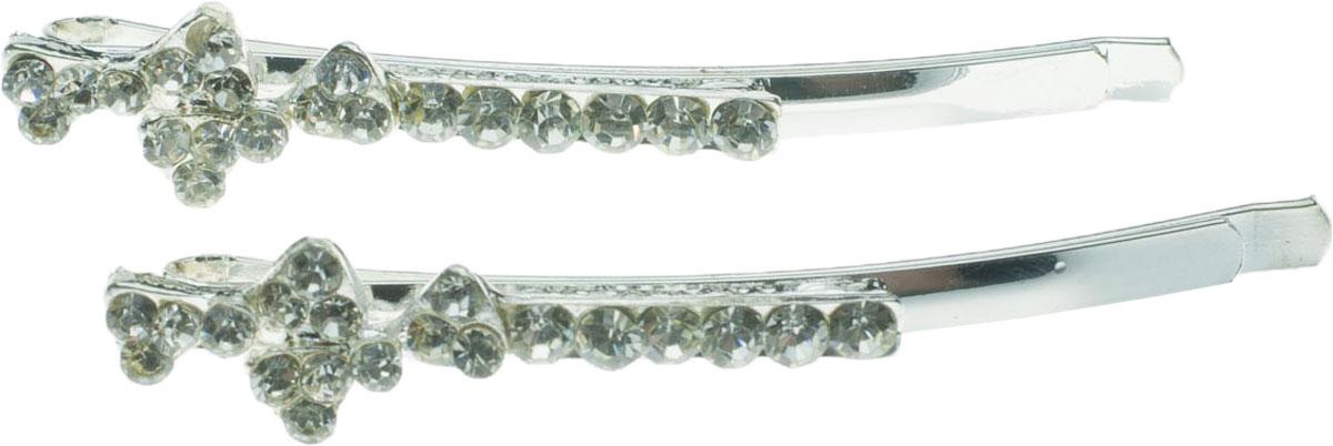 Зажим для волос Мастерская Крутовых, цвет: прозрачный, 2 шт. 11087