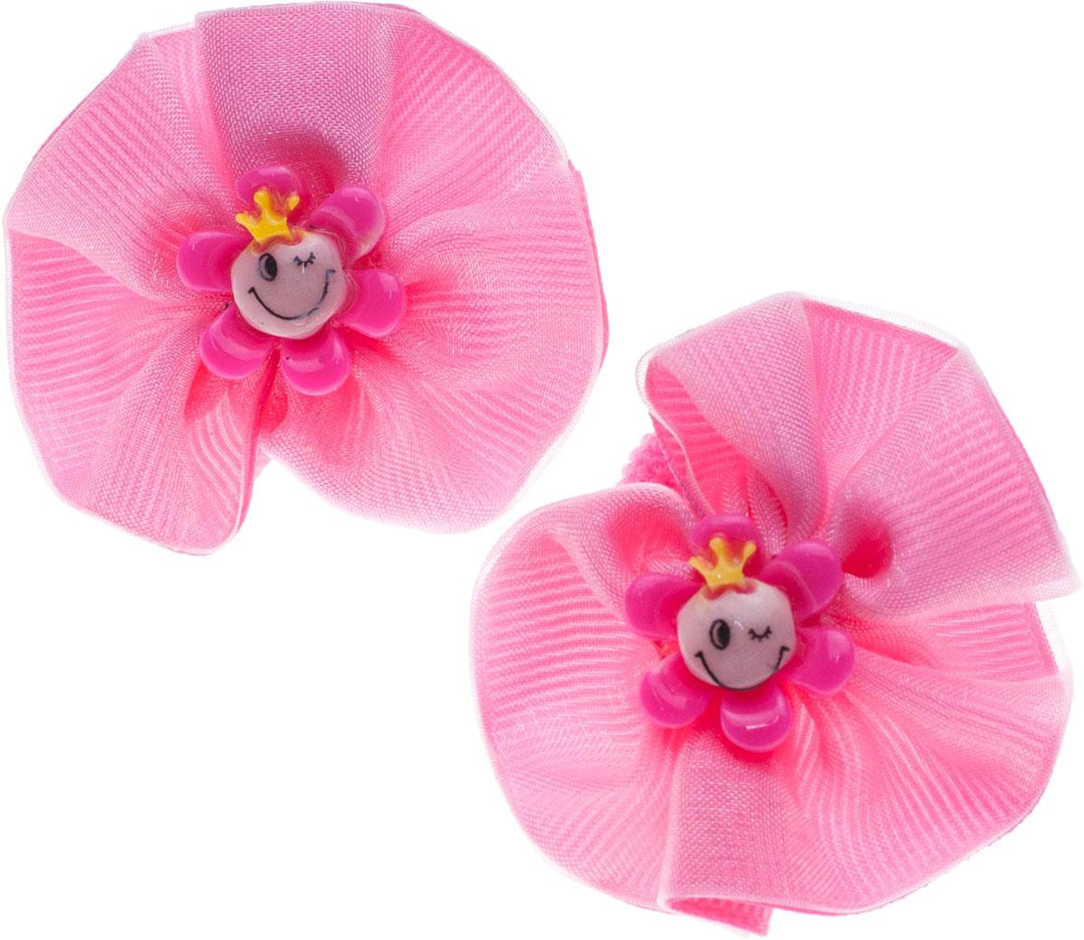 Резинка для волос Мастерская Крутовых, цвет: розовый, 2 шт. 14-297